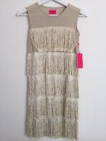 Luxury Matooka kids couture flapper gold dress girl's 4 6 8 10 12 Made USA $150