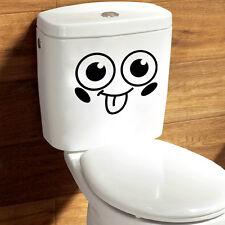 Smile Face Toilet Removable Decal Vinyl Wall Mural Art Decor Bathroom Sticker