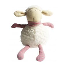 Sheep With Grey And Pink Scarf 28cm Knitted Plush Children's Toy Stuffed Animal