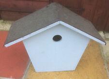 "Bat Bird House Box UNUSED Hand Made Nest Table Feeder Solid Batbox Bat 13"" high"