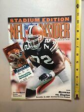 2000 Cleveland Browns vs Philadelphia Eagles Football Program & Ticket Stub