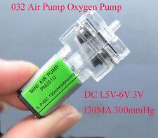 DC 3V-6V Oxygen Air Pump Micro Mini Pressure Aquarium DIY For Sphygmomanometer