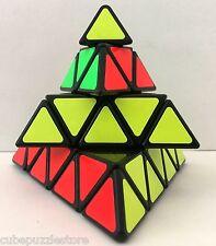 SS 4x4x4 Pyramid Magic Cube Pyraminx Twist Puzzle Intelligence Contest Toy Black