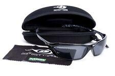 MSA Safety Glasses Gloss Black Marbled Frame Smoked Lens Sunglasses Specs