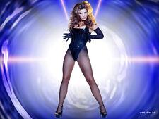 Carmen Electra 8X10 sexy corset and pantyhose