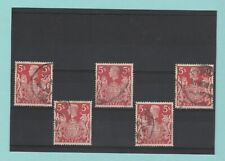 STAMPS  -  BRITISH  -  5  X  5/-  STAMPS  -  KING  GEORGE  VI  -  1939 - 1948