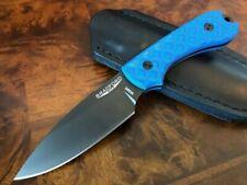 Bradford Knives Guardian 3 M390 Sabre Grind Black DLC Finish Patriot Blue G10