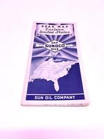 Vtg Sunoco Eastern US Vintage Road Map  B