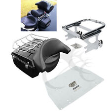 King Tour Pak Pack Trunk w/ Backrest + Rack For Harley HD Touring Road King FLHR