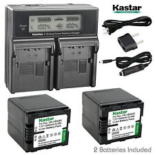 VW-VBN260 Battery & LCD Dual Charger for Panasonic HC-X800 X800GK X900 X900GK