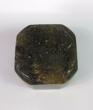 Collectable jade stone carved flying dragon Chinese seal