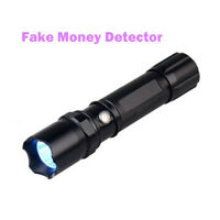 Counterfeit Money Detector 365nm 5W UV Blacklight Flashlight Torch UV Lights