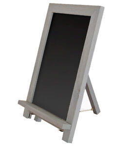 Ilyapa Magnetic Kitchen / School Chalkboard Sign - 12x16 Inch Framed - Gray-wash