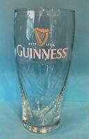 GUINNESS IRISH STOUT 20oz Embossed Gravity Glass imperial pint