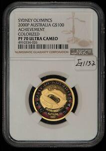 2000P G$100 Australia Sydney Olympic Gold 10g Coin .3215 AGW - NGC PF70 - G1132