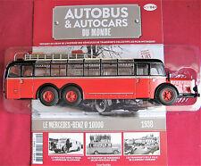 Autocar Hachette LE MERCÉDÈS-BENZ O 10000 de 1938 avec son fascicule