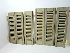 Assorted Antique/Vintage Interior WOOD SHUTTERS