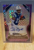 2019 Panini PRIZM ROOKIE Parris Campbell Pink Prizm Auto /49 INDIANAPOLIS COLTS