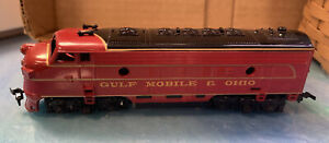 Vtg Life Like HO Engine ~ Gulf Mobile & Ohio F7 Diesel ~Tested & Working in box