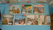EUROPE VIEW-MASTER REELS packet lot x7 Italy France Spain Austria Germany Hollan
