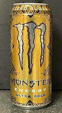NEW MONSTER ULTRA GOLD ENERGY DRINK 16 FL OZ (473mL) 1 FULL CAN FREE SHIPPING