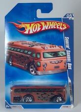 Hot Wheels Surfin School Bus South Bay Chop Shop Tours HW City Works Red