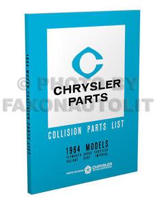 1964 Chrysler Body Book 300 300K New Yorker Newport Imperial Catalog