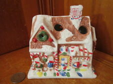 """Giftco Candy Store House Lighted Christmas Village Porcelain 4.5""""Hx4.5""""Wx3.5 """"D"""