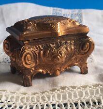 Vintage Art Nouveau Copper Metal Dresser Box Kaiserhaus Goslar Made in Germany