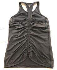 NWT LULULEMON RUCHE OF ADRENALINE TANK ~ Sz 4 ~ Black ~ YOGA PILATES Gym