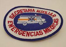 Secretaria Auxiliar Emergencias Medicas Badge Patch