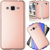 For Samsung Galaxy Express Prime/Amp Prime/Sol/J3V Tempered Glass Hard Slim Case