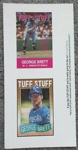 VTG 1991 TUFF STUFF MAGAZINE GEORGE BRETT POSTCARD SHEET SET NEAR MINT MLB HOF