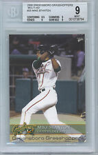 2008 Mike Stanton Greensboro Grasshoppers Multi-Ad Minor League #25 BGS Mint 9