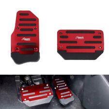 2x RED Non-Slip Pedal Brake Foot Cover Treadle Belt Car Automatic Accelerator