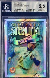 Derek Jeter 1996 Topps Finest Sterling Refractor BGS 8.5 W/ Two 9.5 Subs HOF
