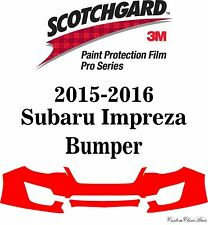 3M Scotchgard Paint Protection Film Pro Series Fits 2015 2016 Subaru Impreza