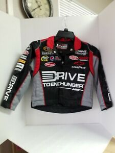 Jeff Gordon Jacket Drive To End Hunger Logos Black Twill Youth Xs