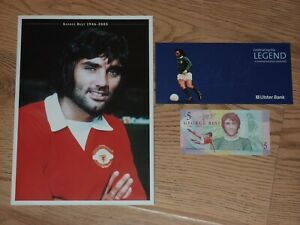 GEORGE BEST Ulster Bank Five Pound Note £5 Uncirculated Manchester United