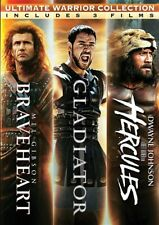 Ultimate Warrior Collection New 3 Dvd Set Braveheart + Gladiator + Hercules