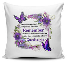 That Somebody Calls You Granddaughter Floral Cushion Cover - 40cm x 40cm