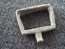 Medieval stirrup type bronze buckle uncleaned condition found in Britain L40u