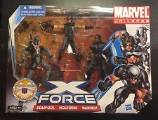 MISB Marvel Universe X-Force 3 Pack box set Deadpool Wolverine Warpath 3.75 Team
