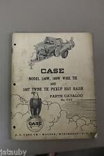 VINTAGE CASE - Mod 140W/160W, Wire Tie & 160T Twine Tie Pickup Hay Baler tractor