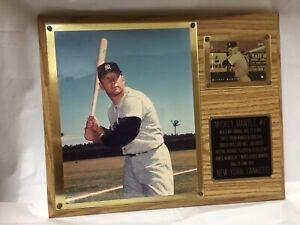 Mickey Mantle PlaqueMajor League Baseball Upper Deck 1956