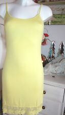 Cream  Träger- Kleid  Viscose Dress Yellow  Spitze  size: M  Neu