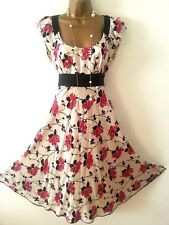 MONSOON FLORAL SUMMER VIOLA SILK DRESS SIZE 10 WEDDINGS RACES HOLIDAYS