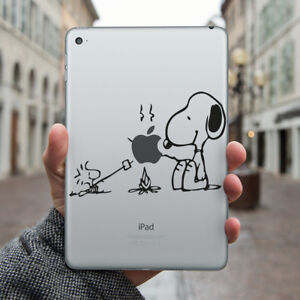 SNOOPY Apple iPad Decal Sticker fits iPad Mini, iPad Air & iPad Pro models