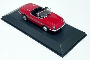 MINICHAMPS FIAT 850 SPORT SPIDER 1968 RED MODEL CAR 1:43 SCALE