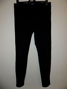Womens Ladies Black Pull on Jeggings Size Uk 14 Worn Once